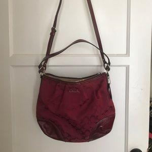 Beautiful Classic Coach Burgundy Shoulder Bag!